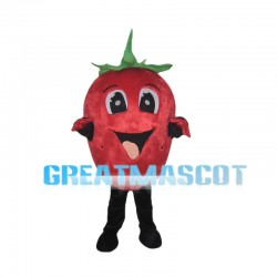 Cartoon Big Eyes Strawberry Mascot Costume
