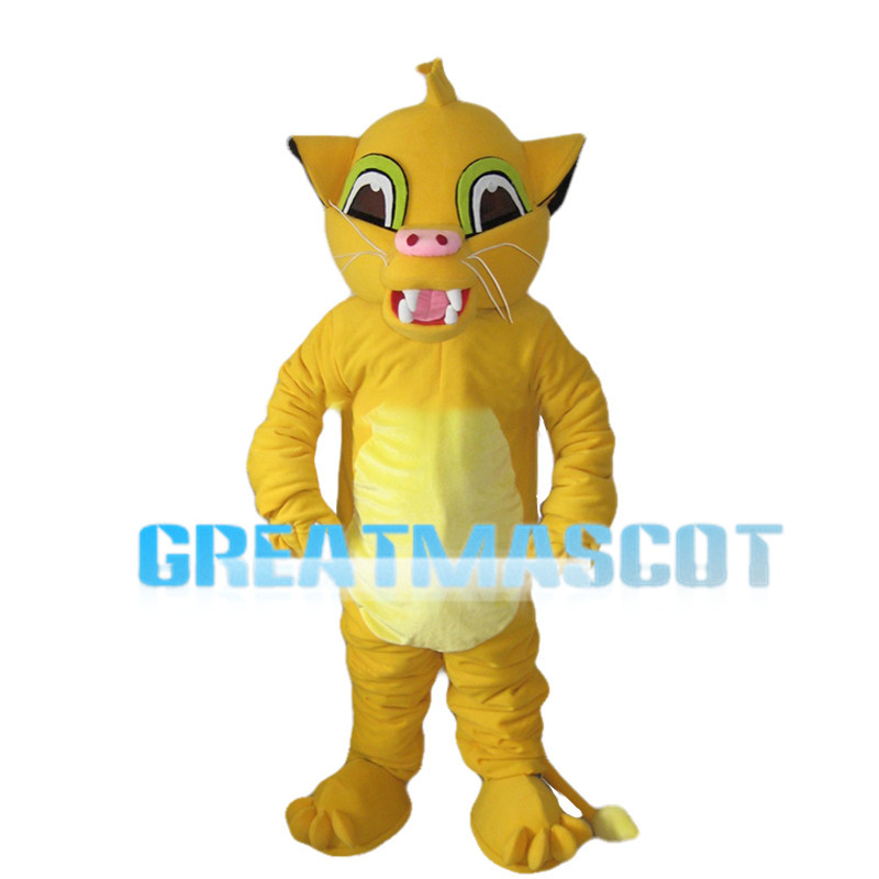 Growing Little Lion Simba Mascot Costume