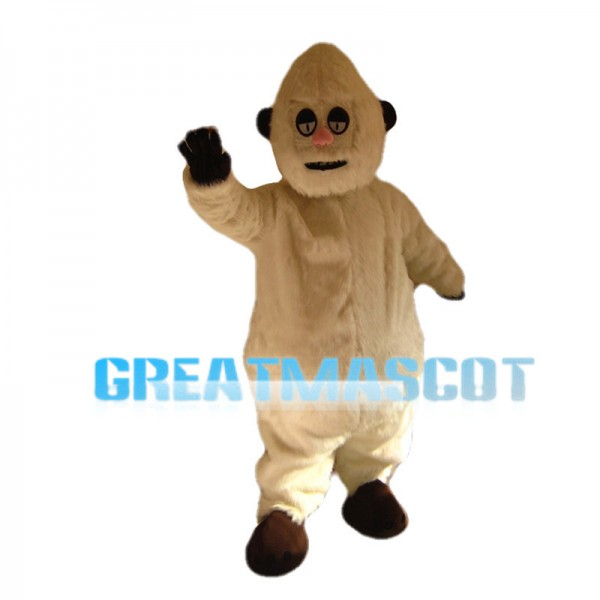 White Fur Snow Mountain Ape Mascot Costume