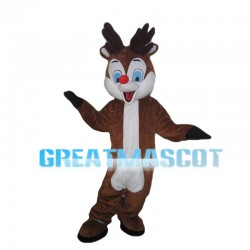 Convivial Fawn With Blue Eyes Mascot Costume