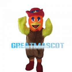 Fancy Chicken With Orange Head Mascot Costume