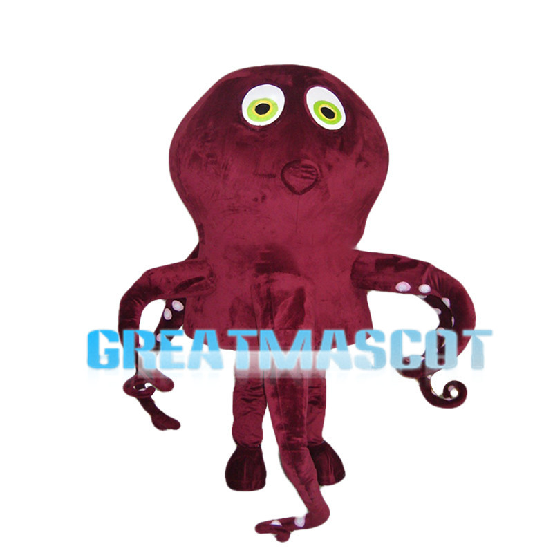Green Eyes Octopus Mascot Costume