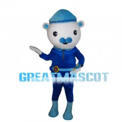 Courageous Captain Polar Bear Mascot Costume