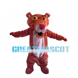 Cheering Pink Tiger Mascot Costume