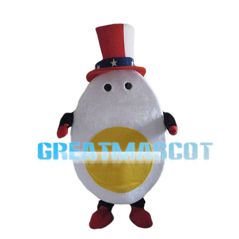 Cutting Boiled Egg Mascot Costume