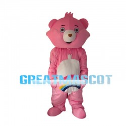 Pink Rainbow Bear Mascot Costume