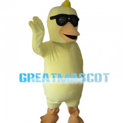 Gangster Duck With Sunglasses Mascot Costume