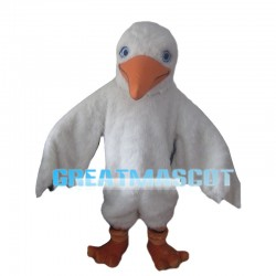 Long-haired White Bird Mascot Costume
