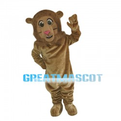 Amicable Greeting Lion Mascot Costume
