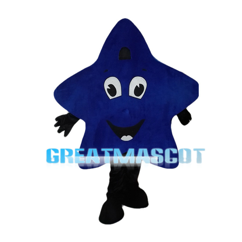 Dark Blue Smiling Star Mascot Costume