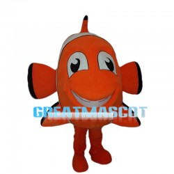 Cartoon Orange Striped Clownfish Nemo Mascot Costume