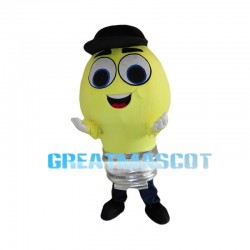 Rotatable Light Bulb Mascot Costume