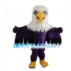 Purple Eagle With Open Wings Mascot Costume