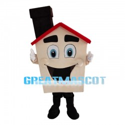 Black Chimney Cabin Mascot Costume