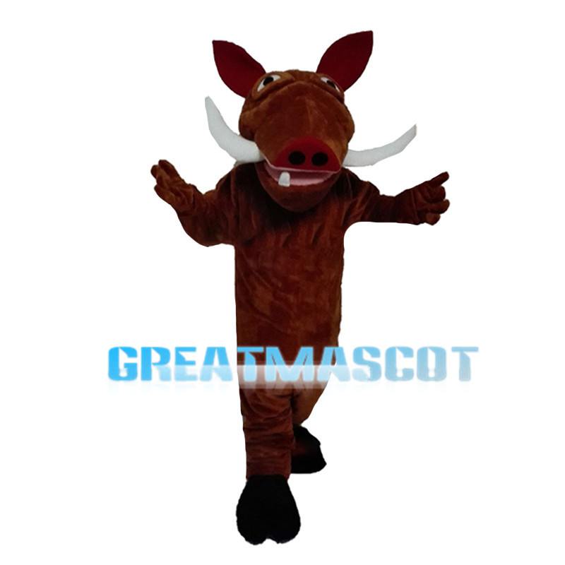 Wild Boar With Two Fangs Mascot Costume