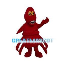 Fatty Red Big Octopus Mascot Costume