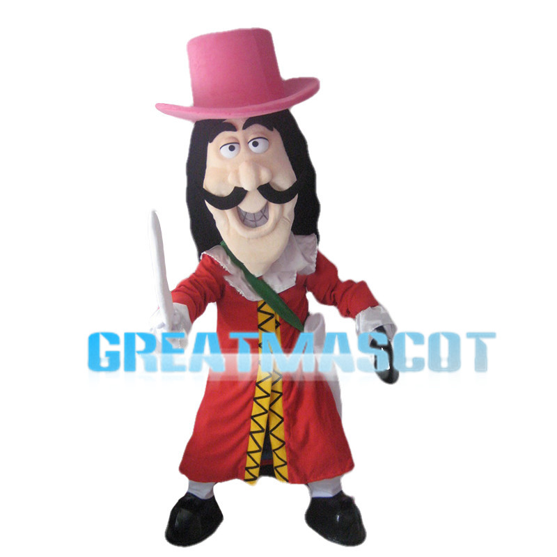 Long Face Warrior With Sword Mascot Costume