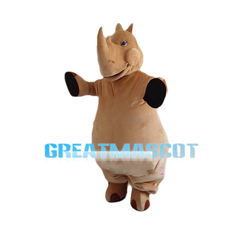 Fat Clumsy Rhino Mascot Costume