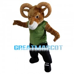 Serious Bighorn Sheep Mascot Costume