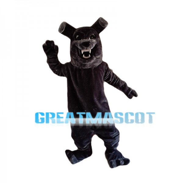 Manic Black Dog Mascot Costume