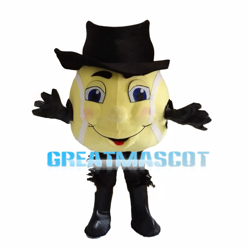 Tennis Ball With Hat Mascot Costume