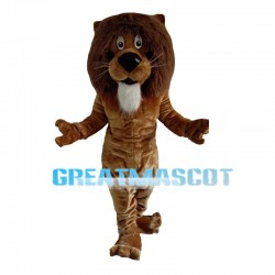Muscular Male Lion Mascot Costume