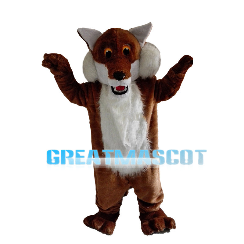 Brave Hairy Tiger Mascot Costume