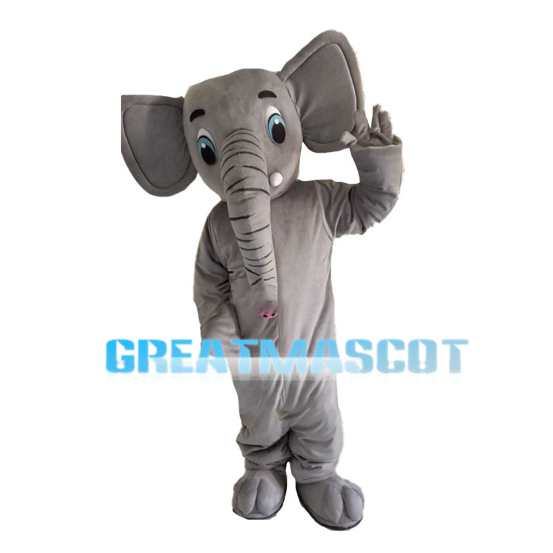Lively Grey Little Elephant Mascot Costume