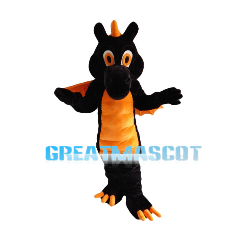 Black & Orange Flying Dragon Mascot Costume