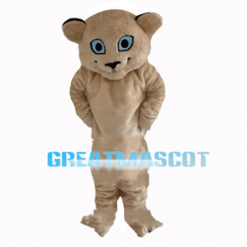 Little Tiger With Sky Blue Eyes Mascot Costume