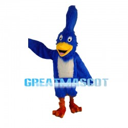 Blue Furry Woodpecker Mascot Costume