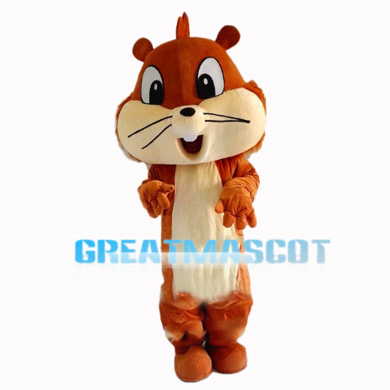Joyful Cute Chipmunk Mascot Costume