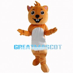 Squirrel Showing Front Teeth Mascot Costume