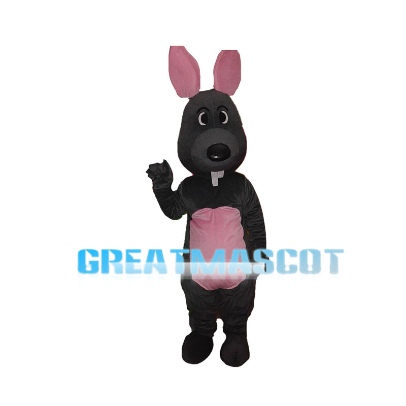 Grey Mouse With Pink Ears Mascot Costume