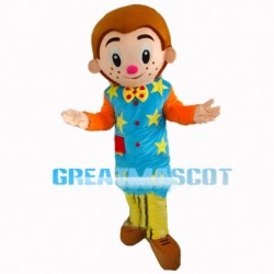 Adolescent Boy With Colorful Coat Mascot Costume