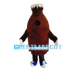 Cartoon Chocolate Milk Bottle Mascot Costume