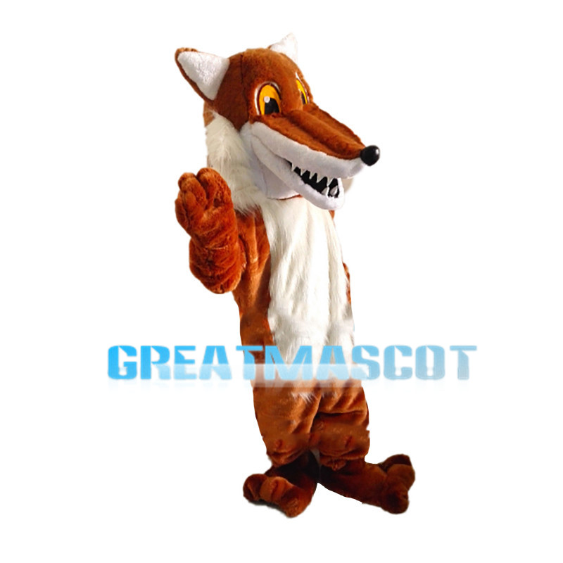 Pointed Mouth Wolf Mascot Costume
