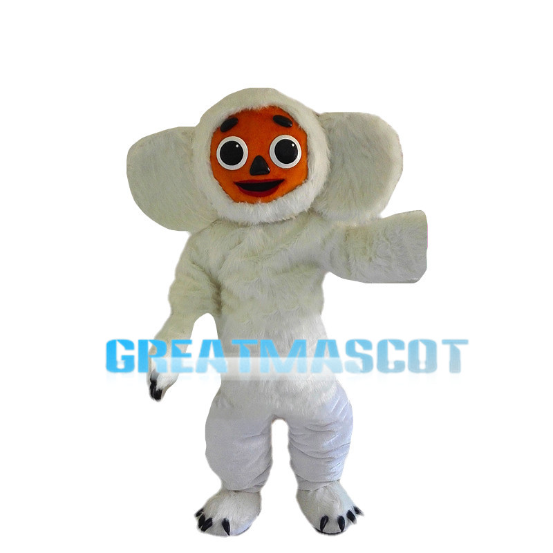 White Small Macaque Mascot Costume
