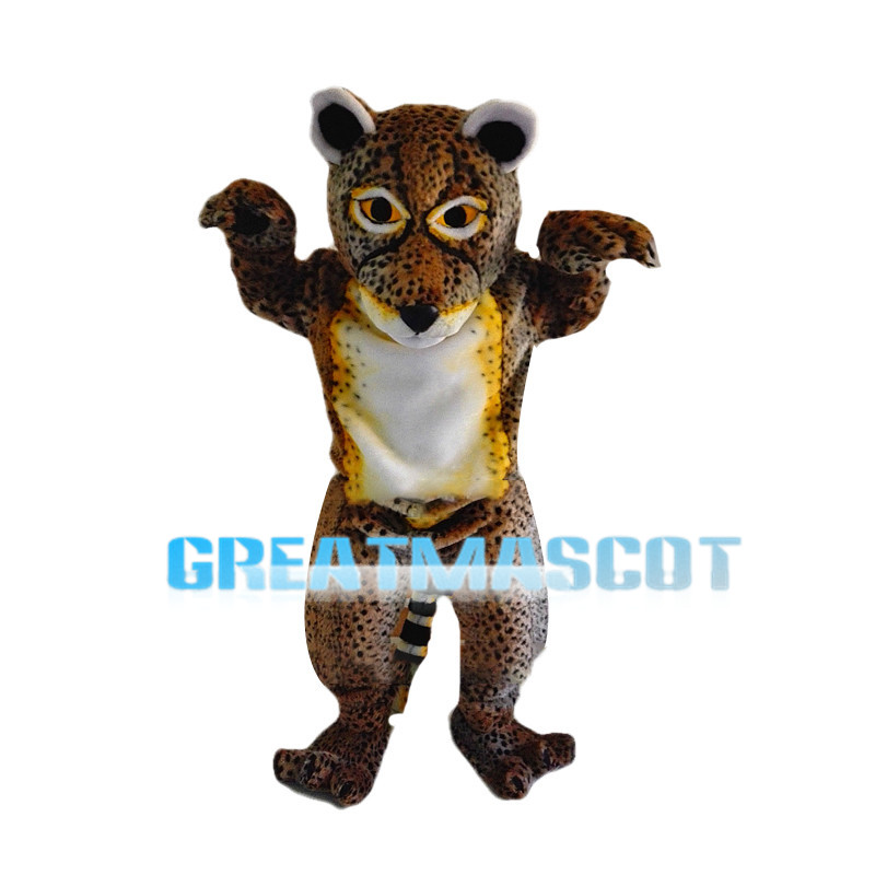 Stout Leopard With White Belly Mascot Costume