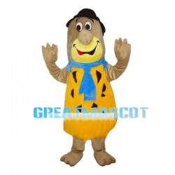 Cartoon Marmot With Yellow Vest Mascot Costume