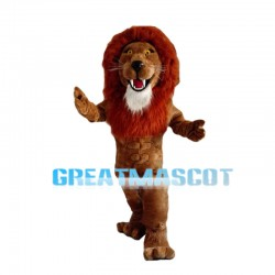 Muscular Strong Lion Mascot Costume
