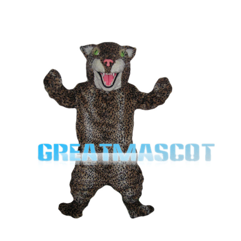 Leopard With Green Eyes Mascot Costume