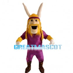 Purple Warrior With Muscle Mascot Costume