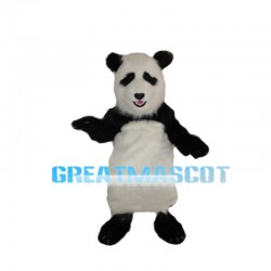 Silly Long Fur Panda Mascot Costume