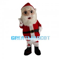 Peaceful Santa Claus With Glasses Mascot Costume