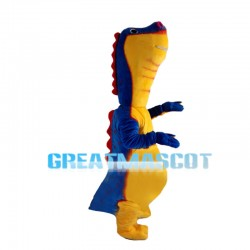 Blue & Yellow Little Dinosaur Mascot Costume