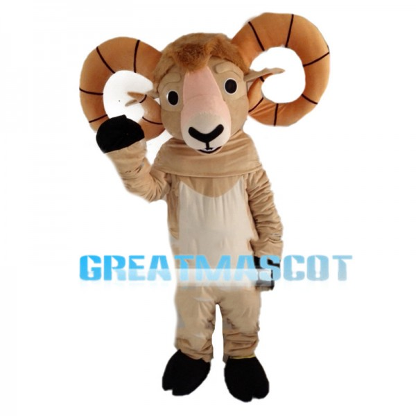 Goat With Circle Shaped Claws Mascot Costume