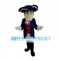 Square Face Noble Gentleman Mascot Costume