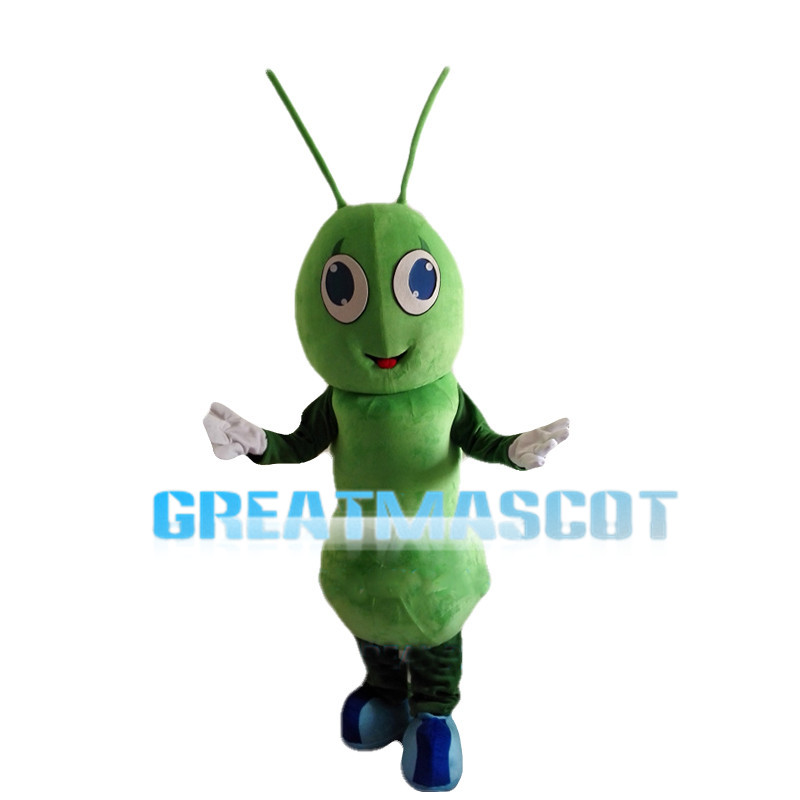 Green Ant With Blue Eyes Mascot Costume