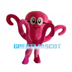 Swimming Pink Octopus Mascot Costume
